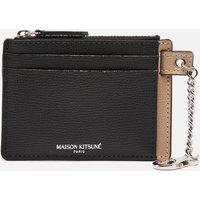 Maison Kitsune Men's Colour Block Zipped Card Holder - Black