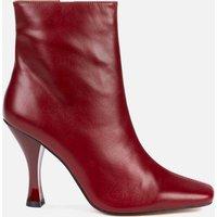Kurt Geiger London Women's Rocco Leather Heeled Boots - Wine - UK 5