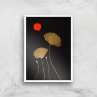 Kubistika Moonshine Dancers Giclee Art Print - A2 - White Frame