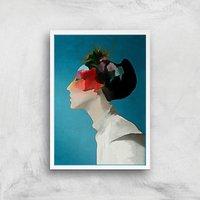 Kubistika Kimono Giclee Art Print - A3 - White Frame