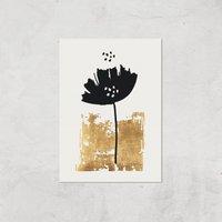 Kubistika Black Poppy Giclee Art Print - A2 - Print Only
