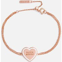 Olivia Burton Womens Candy Shop Sweet Heart Bracelet - Rose Gold and White Enamel