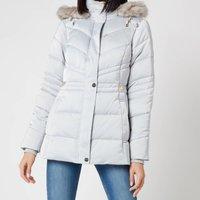Ted Baker Womens Maliiva Padded Coat - Light Grey - UK 10