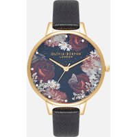 Olivia Burton Women's Winter Blooms Demi Watch - Black & Gold