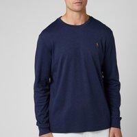 Polo Ralph Lauren Men's Custom Slim Fit Long Sleeve T-Shirt - Spring Navy Heather - XL