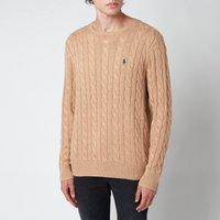 Polo Ralph Lauren Men's Cable Knit Cotton Jumper - Camel Melange - XL