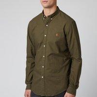 Polo Ralph Lauren Mens Slim Fit Garment Dyed Oxford Shirt - Defender Green - S