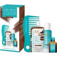 Moroccanoil Care Meets Colour Brunette Bundle with Free Comb - Cocoa (Worth PS22.55)