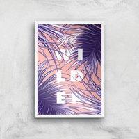 Planeta4 Get Wilder Giclee Art Print - A4 - White Frame
