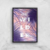 Planeta4 Get Wilder Giclee Art Print - A3 - Black Frame