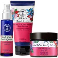 Neal's Yard Remedies Wild Rose Beauty Serum, Wild Rose Beauty Balm and Wild Rose Hand Cream Trio