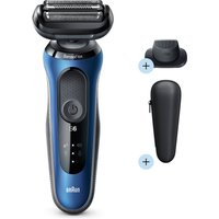 Braun Series 6 Electric Shaver - Blue - Precision Trimmer + Shaver Head Replacement