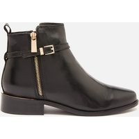 Dune Women's Pop Leather Ankle Boots - Black - UK 8