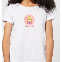 Nintendo Animal Crossing Relaxing Isabelle Womens T-Shirt - White - M - Weiß