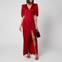 De La Vali Women's Ohio Dress - Red Solid - UK 6