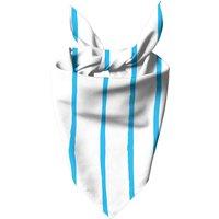 Blue Stripes Dog Bandana - Large