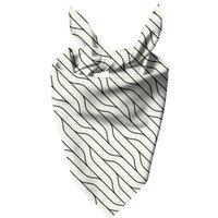 Diagonal Warped Lines Dog Bandana - XS