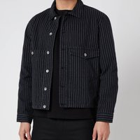 YMC Men's Garment Dye Pinstripe Twill Pinkley Jacket - Black - XL