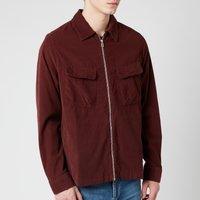 PS Paul Smith Men's Zipped Overshirt - Burgundy - XL