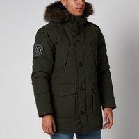 Superdry Mens Everest Parka Jacket - Army Khaki - L