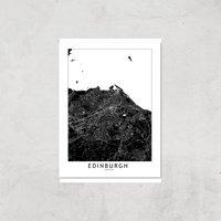 Negative Edinburgh City Map Giclee Art Print - A4 - Print Only