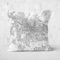 Glasgow City Map Square Cushion - 60x60cm - Soft Touch