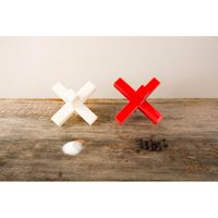 Kikkerland Double Cross Salt and Pepper Shakers