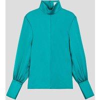 AMI Women's Long Sleeve Shirt - Green - FR 34/UK 6