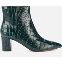 Kurt Geiger London Women's Burlington Leather Heeled Ankle Boots - Dark Green - UK 6