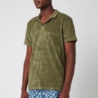 Orlebar Brown Men's Terry Towelling Polo Shirt - Olive - M