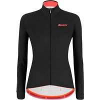 Santini Women's Colore Long Sleeve Jersey - XS - Black