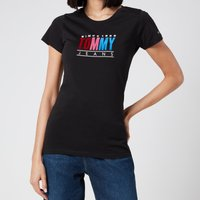 Tommy Jeans Women's TJW Multi Colour Logo T-Shirt - Black - M