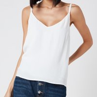 Tommy Jeans Women's Branded Straps Cami Top - White - XS