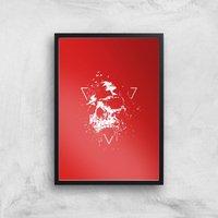 Skull Giclee Art Print - A2 - Black Frame