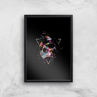 Shattered Skull Giclee Art Print - A3 - Black Frame