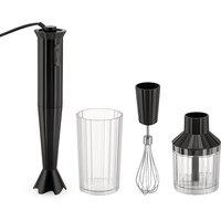 Alessi Hand Blender Set - Plisse Black