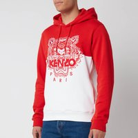 KENZO Men's Colorblocked Tiger Icon Hoodie - Medium Red - L