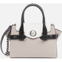 MICHAEL Michael Kors Womens Carmen Small Flap Satchel - Pgry/Opt/Blk