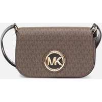Michael Michael Kors Womens Samira Small Flap Messenger Bag - Brown/Black