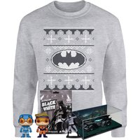 DC Comics Officially Licensed MEGA Christmas Gift Set - Includes Christmas Sweatshirt plus 3 gifts -