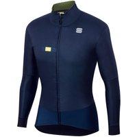 Sportful Bodyfit Pro Jacket - M - Blue/Yellow Fluo