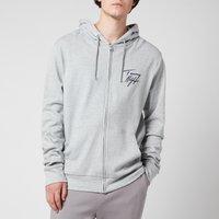 Tommy Hilfiger Men's Full Zip Hoodie - Grey Heather - XL