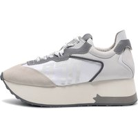 Ash Women's Roxy Suede Nylon Trainers - Salt/White/Silver - EU 39/UK 6