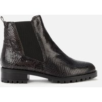 Dune Women's Powerful Reptile Print Leather Boots - Black - EU 40/UK 7