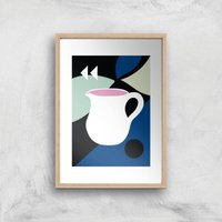 Abstract Jug Giclee Art Print - A4 - Wooden Frame