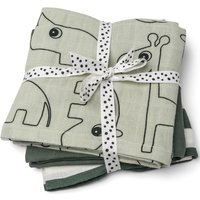 Done by Deer Muslin Cloth - 3 Pack - Green