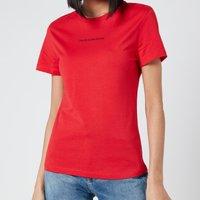 Calvin Klein Jeans Women's Back Monogram Crew Neck T-Shirt - Racing Red - XS
