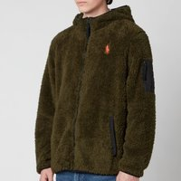 Polo Ralph Lauren Men's Curly Sherpa Full Zip Hoodie - Company Olive - S