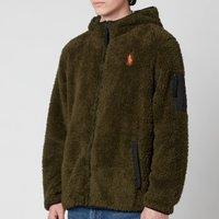 Polo Ralph Lauren Men's Curly Sherpa Full Zip Hoodie - Company Olive - S