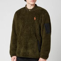 Polo Ralph Lauren Men's Curly Sherpa Sweatshirt - Company Olive - L